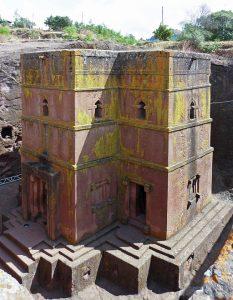 Rock-hewn church of St. George in Lalibela, Ethiopia