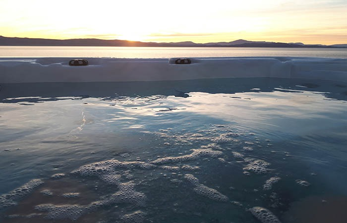 Hot tub sunsetWS